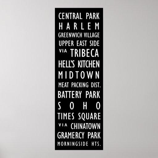 New York Vintage Transit Scroll Poster