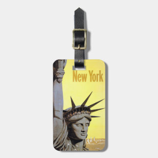 New York Vintage Travel custom luggage tag