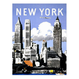 New York  Vintage Travel Post Cards at Zazzle