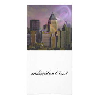 New York, violet dream Custom Photo Card