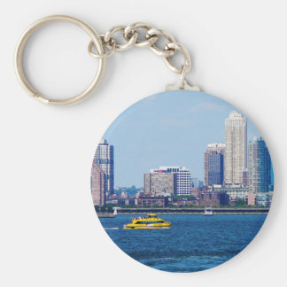 New York Water Taxi Basic Round Button Key Ring