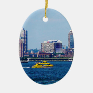 New York Water Taxi Ceramic Oval Decoration