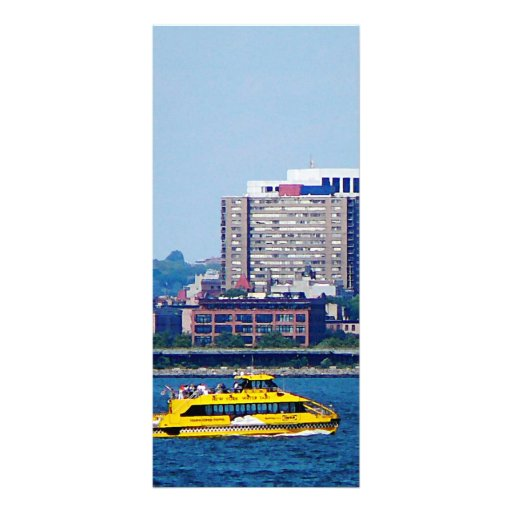New York Water Taxi Customized Rack Card