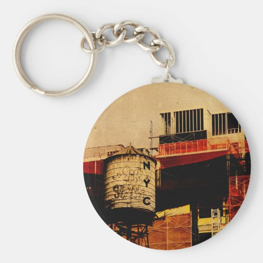 New York water tower keychain