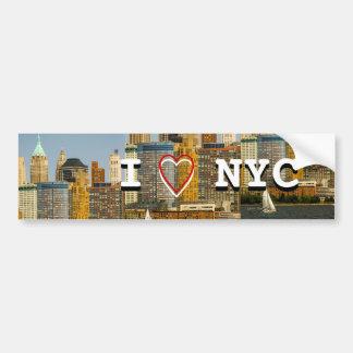 New York Waterfront Bumper Sticker
