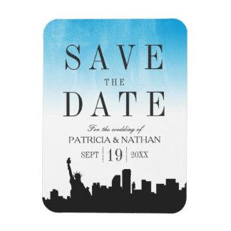 New York Wedding Save the Date Rectangular Photo Magnet