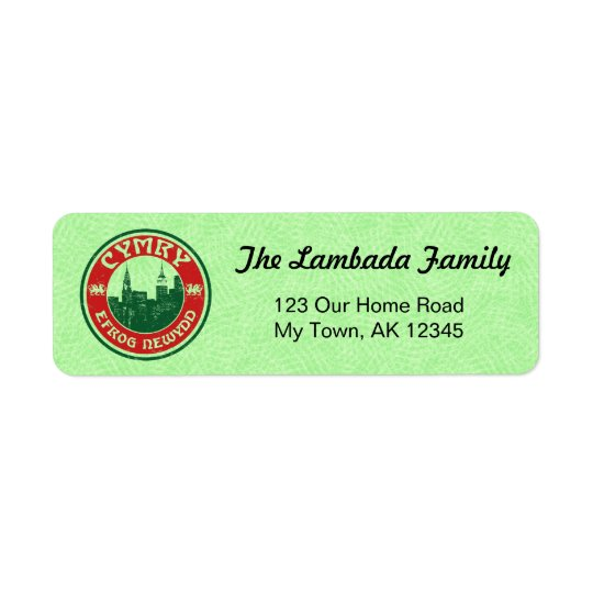 New York Welsh American Address Labels