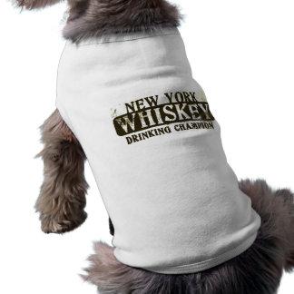 New York Whiskey Drinking Champion Sleeveless Dog Shirt