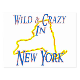 New York - Wild and Crazy Postcard