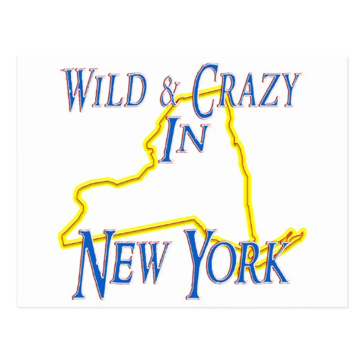 New York - Wild and Crazy Post Card