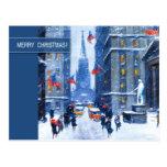 New York, Winter.Customisable Christmas Postcard