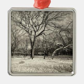 New York Winter - East Village Snow Christmas Ornament