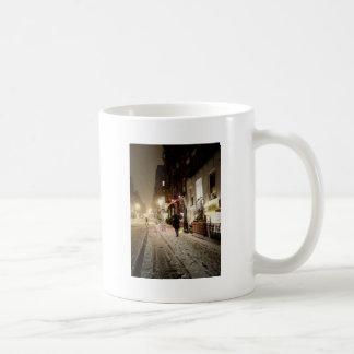 New York Winter - Snow on the Lower East Side Basic White Mug