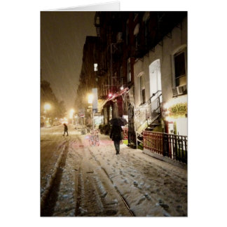 New York Winter - Snow on the Lower East Side Cards