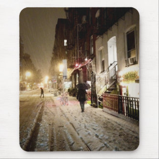 New York Winter - Snow on the Lower East Side Mouse Mat
