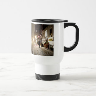New York Winter - Snow on the Lower East Side Stainless Steel Travel Mug
