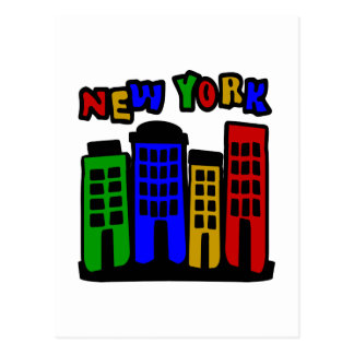 New York With Colorful Brownstones Post Cards