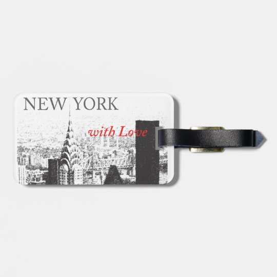 New York with Love Luggage Tag