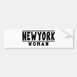 New York woman designs Bumper Sticker