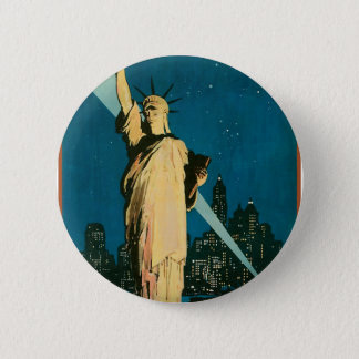 New York Wonder City of the World 6 Cm Round Badge
