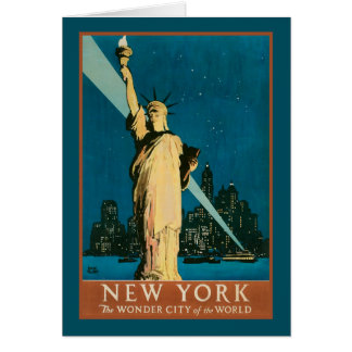 New York Wonder City of the World Card