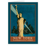 New York Wonder City of the World Greeting Card
