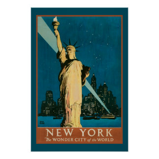 New York Wonder City of the World Poster