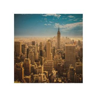New York Wood Print