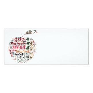New York words cloud 10 Cm X 24 Cm Invitation Card
