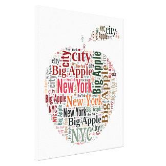 New York words cloud Canvas Print