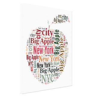 New York words cloud Stretched Canvas Print