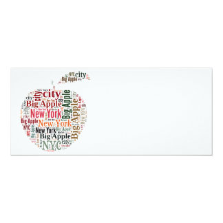 New York words cloud Card