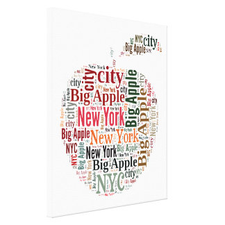 New York words cloud Gallery Wrapped Canvas