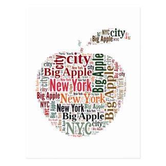 New York words cloud Post Cards
