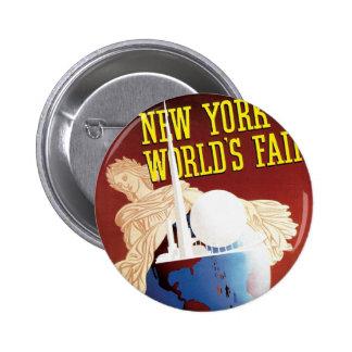 New York World s Fair Globe Pins