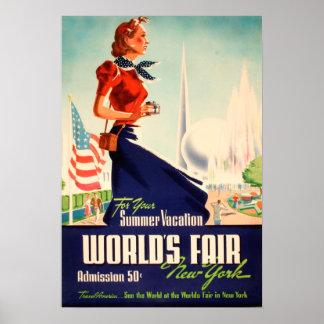 New York World s Fair Vintage Poster