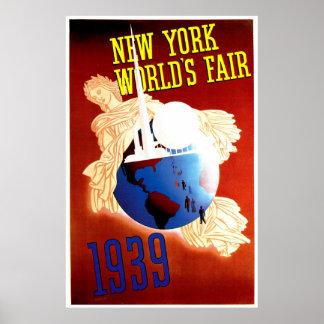 New York World s Fair Vintage Travel Ad Print