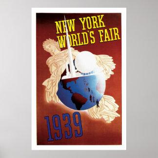 New York World s Fair Vintage Travel Poster