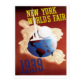 New York World's Fair 1939 Travel Poster Art Postcard