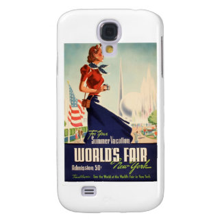New York World's Fair Poster Galaxy S4 Case