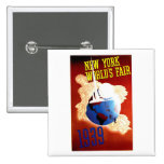 New York World's Fair Vintage Travel Ad Pin