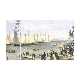 New York Yacht Club Regatta 1869 Gallery Wrap Canvas