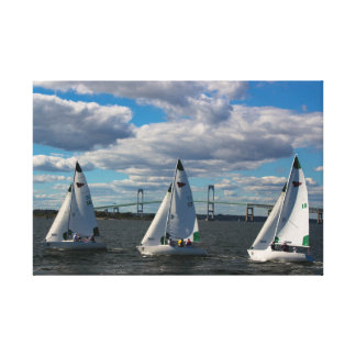 New York Yacht Club Sailing in Newport, RI Canvas Prints