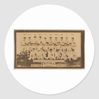 New York Yankees 1913 Round Sticker