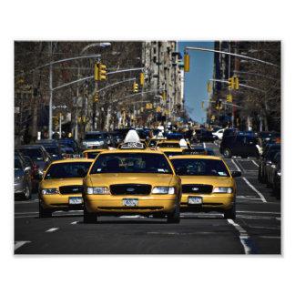 New York Yellow Cabs Photographic Print