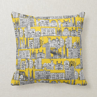 New York / yellow Cushion