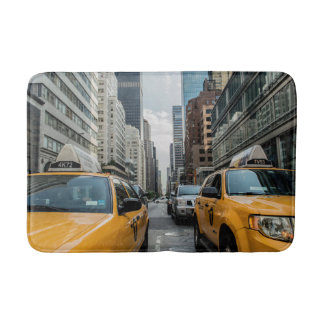 New York Yellow Taxi Cabs Bath Mats