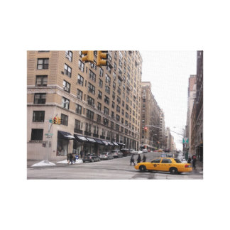 New York Yellow Taxi Canvas Print