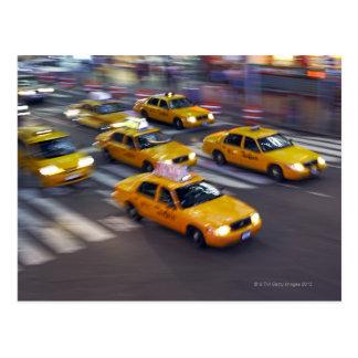 New York Yellow Taxi's Postcard