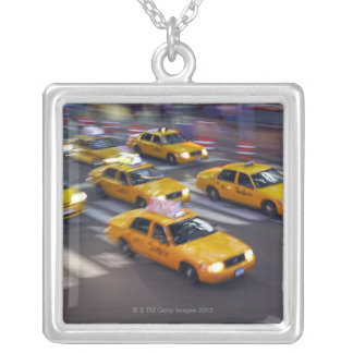 New York Yellow Taxi's Silver Plated Necklace